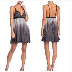 Show me Your Mumu ombre metallic pleated dress